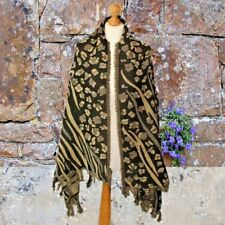 LUXURY heavy brown leopard print wool scarf wool shawl perfect mothers day gift
