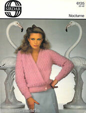 "Knitting Pattern Sirdar Nocturne Ladies Textured Cardigan 32 - 40"""