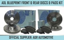 BLUEPRINT FRONT + REAR DISCS PADS FOR AUDI A5 CABRIOLET 2.0 TURBO 208 BHP 2009-