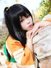 InuYasha Rin Cosplay Black Straight Long Wig Halloween