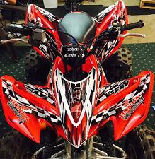"HONDA 2005-2007 TRX400EX 400EX ATV GRAPHICS /""MACHINEHEAD/"" RED MODEL SKULL"