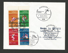 FDC Allemagne 4 timbres Jeux Olympiques München 1972 tampon Augsburg 1972/ L967