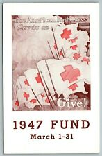 American Red Cross Carries On~Flags~Pennsylvania RR Busy Checklist~1947 Fund PC