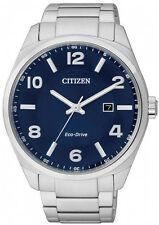 Citizen Eco-Drive Solar Power Stainless Steel Mens Watch. Daily Wear BM7320-52L