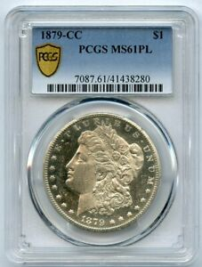 1879-CC S$1 Morgan Silver Dollar PCGS MS 61 Proof Like