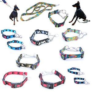 Halsband Hundehalsband Hundeleine Klickschnellverschluss mit Sicherung