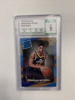2017-18 Donruss Donovan Mitchell Rated Rookie #188 CSG 9 MINT Jazz w/ 2 9.5s
