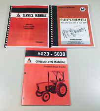 ALLIS CHALMERS 5020 5030 TRACTOR SERVICE PARTS OPERATORS MANUAL REPAIR SHOP SET