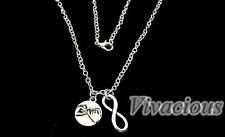 Pinky Promise Swear Necklace Best Friends Sisters Infinity Knot Eternity Chain