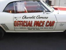 OER PC011 1969 Camaro Indy 500 Pace Car Door Decal Set BRAND NEW CHEVROLET