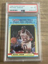 1988 Fleer Sticker Michael Jordan #7, PSA 6 Ex-Mint, Chicago Bulls GOAT, 3rd YR