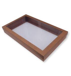 10 LARGE KRAFT BROWN WINDOW SHIRT BOXES, GARMENT GIFT LINGERIE JEWELLERY