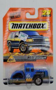 Matchbox 1999 Road Work Series 6 Road Roller #29 1998-2000 Packaging