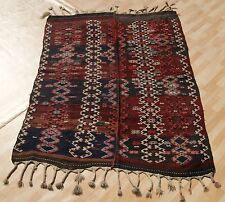 Same Old Kurdish Kilim Rug Hand Woven Rectangle Wool Red Kilim Area Rugs 5X7ft