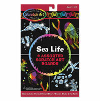 Melissa and Doug Scratch Art® Sea Life Pack - 15918 - NEW!
