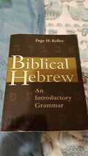 Biblical Hebrew An Introductory Grammar Page H. Kelley