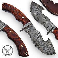 Hunt For Life™ Cane Ridge Damascus Full Tang Gut Hook Knife