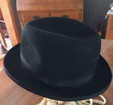 JAXON HATS BLACK BOWLER 100% WOOL SIZE MEDIUM (Michael Corleone) Godfather