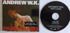 ANDREW W.K. - PARTY HARD, 2001 ENHANCED CD. 588 8132.