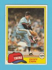 BASEBALL - TOPPS  GUM  -  GEOFF  XAHN  -  PITCHER  -  TWINS  -  1981