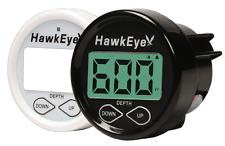HawkEye®  In Dash Depth Finder/Sounder with Temperature - Thru-Hull Transducer