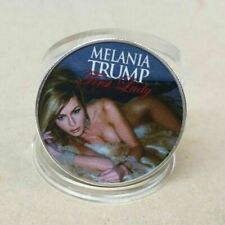 Melania Trump Silver Plate American First Lady Commemorative Coin US