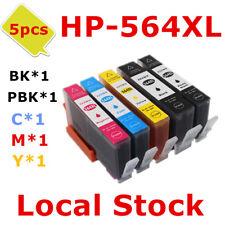 5x HP564XL 564XL ink Cartridge for HP 5520 5510 7520 5514 6510 6512 6515e
