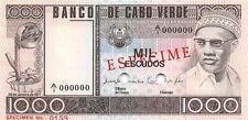Cape Verde 1000 Escudos 1977 Unc Specimen Pn 56S