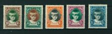 Luxembourg 1929 Helping Children full set of stamps. Mint. Sg 285-289.