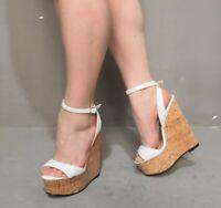 Wedge High Heel Platform Slingback Sandals Peep Toe Buckle Ankle Strap Shoes