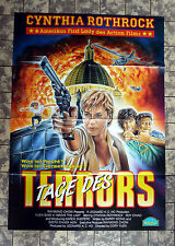 TAGE DES TERRORS/ Above the Law * VIDEO-POSTER -Ger 1-Sheet ´89 CYNTHIA ROTHROCK