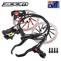 ZOOM Hydraulic MTB Bike Disc Brake 160/180/203mm Disc Brake 6 Bolt Rotor CNC AU