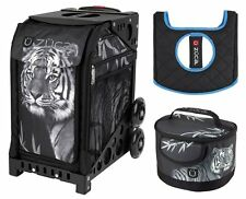 Zuca Bag Tiger Insert and Black Non-Flashing Frame, Gift Lunchbox & Seat Cushion