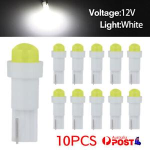 10pcs of T5 White 58 74 Dashboard Gauge COB SMD LED Wedge Dash Bulb Light 12V DC