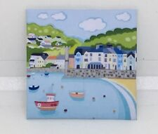 HANDMADE MINIATURE DOLLS HOUSE ACCESSORY CANVAS STYLE WALL ART PICTURE Seaside 2