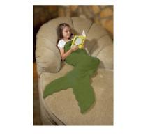 Down Home Mermaid Tail Green Fleece Throw NEW