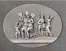 Ariadne conduite au ciel d'après l'antique par Wicar Bertaux et Niquiet 1789