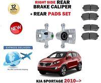 FOR KIA SPORTAGE 1.6 1.7 2.0 CRDI 2010-> REAR RIGHT SIDE BRAKE CALIPER + PADS