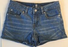 EUC 7 For All Mankind 7FAM Girls Denim Jean Shorts 10