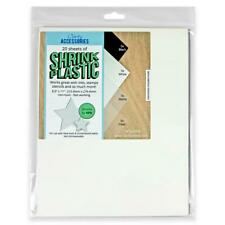 """CLARITY ACCESSORIES 20 Sheets SHRINK PLASTIC Black WHITE Matte CLEAR 8.5 x 11"""""""