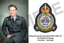 aviation art pilot photo postcard colour WW2 Guy Gibson 617 Squadron Dambusters