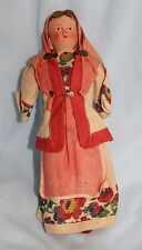Polish/Patras cloth doll with celluloid head folkart vintage