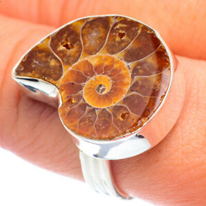 Ammonite Fossil 925 Sterling Silver Ring Size 9.75 Ana Co Jewelry R72005F