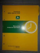 John Deere tractor 4040 4240 4440 : scale of time repair
