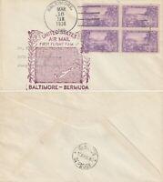 US 1938 PAN AM FAM 17 FIRST FLIGHT FLOWN COVER BALTIMORE TO BERMUDA