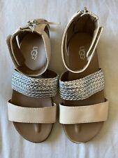 GUC Ugg Girls Sandals Shoes Size UK13 Eur 31 Gold Silver