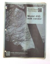 Service manual and parts catalog for Rowe Model 495 milk vendor