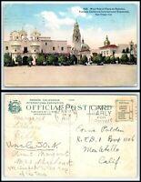 CALIFORNIA Postcard - San Diego, Panama-California International Expo A12