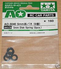 Tamiya 84174/2310007 5mm Disk Spring (5 Pcs.) (Astute/Madcap/King Cab), NIP