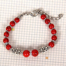 HOT Free shipping New Tibet silver multicolor jade turquoise bead bracelet S117B